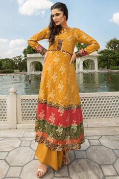 Classy Mughal Yellow (2PC) - Limelight Collection
