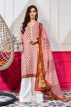 Printed 3pc Lawn Suit  - Gul Ahmed