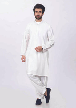 Off White Shalwar Suit - Bonanza