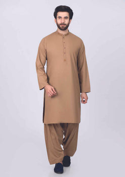 Light Brown Kurta Shalwar - Bonanza