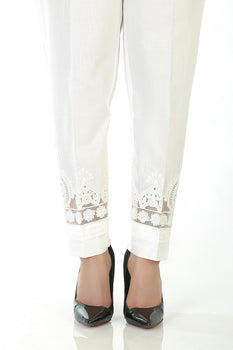 Design 3 White Trousers - LSM Fabrics