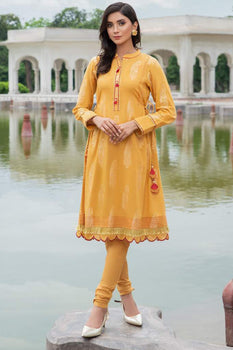 Festivity Yellow Kurta - Limelight Cambric Collection