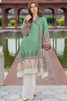 Ethnic Grandeur Aqua Kurta - Limelight Cambric Collection