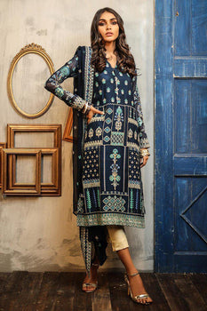 Design 1 Dastaan Embroidered Collection - LSM Fabrics