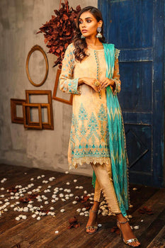 Design 2 Dastaan Embroidered Collection - LSM Fabrics