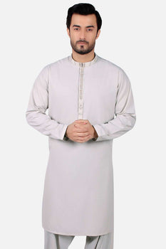 Pearl White Shalwar Kameez - Edenrobe Collection