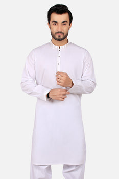 White Embroidered Shalwar Kameez - Edenrobe Collection