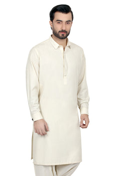 Dark Cream Shalwar Kameez - Edenrobe Collection