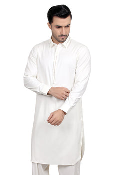 Light Cream Shalwar Kameez - Edenrobe Collection
