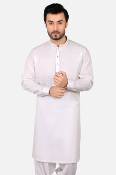 Off White Wash and Wear Shalwar Kameez - Edenrobe Collection