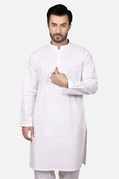 Off White Polyviscose Shalwar Kameez - Edenrobe Collection