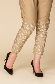 Floral Embroidered Ladies Trouser - Ethnic By Outfitters