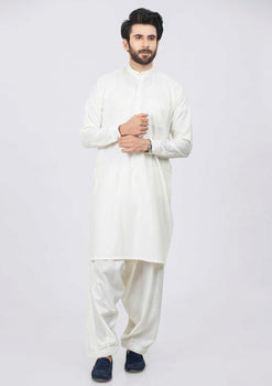 Cream Shalwar Suit - Bonanza