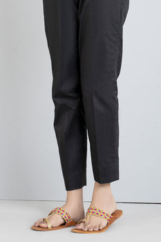 Black Simple Trousers - Stonez