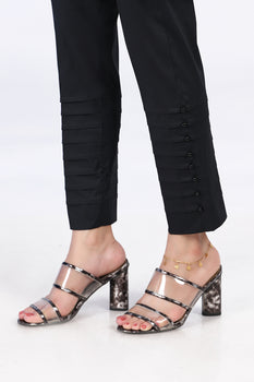 Black Beaded Trousers - Stonez