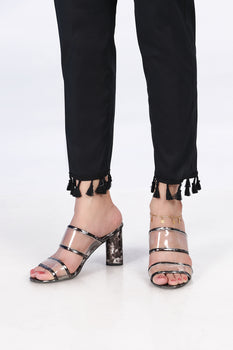 Black Tassel Trousers - Stonez