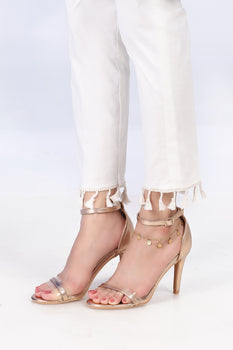 White Tassel Trousers - Stonez