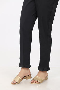 Black Frill Trousers - Stonez