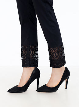 Black Embroidered Trousers - Stonez