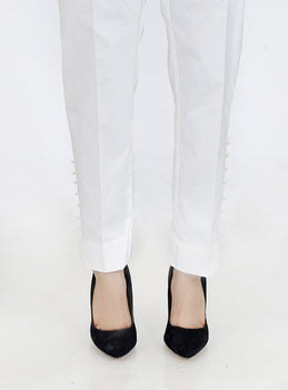 White Bead Trousers - Stonez