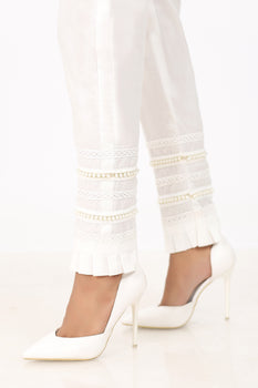 White Pearl Trousers - Stonez
