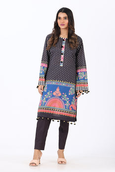 Black 2 Piece Printed Suit - Ethnic By Outfitters