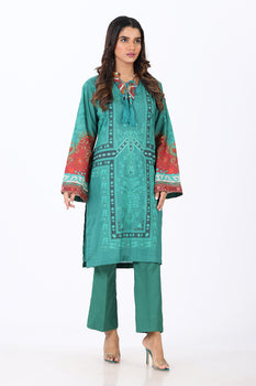 Green 2 Piece Printed Suit - Ethnic By Outfitters