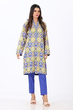 Blue Printed 2 Piece Suit - Ethnic By Outfitters