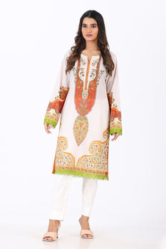 Printed Lawn Kurta - Ethnic By Outfitters