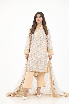 Gold 3pc Lawn Suit  - Gul Ahmed