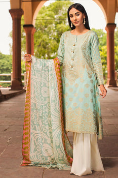 Gauhar-e-Nayab (2 Piece Green Suit) - Limelight Lawn Collection