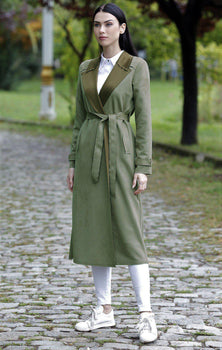 Abaci Olive Green Mink Coat