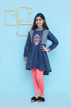 OFK 582 Dark Blue Kurta - Ochre Winter Collection