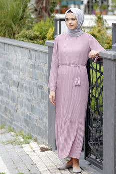 Abaci Pink Chiffon Maxi Dress