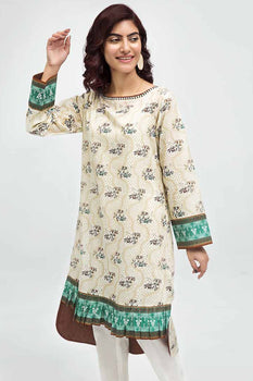 Off White Kurta SCN-119 - Gul Ahmed Bagh-e-Gul Collection