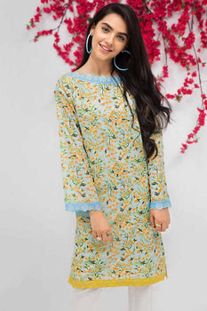 Blue Kurta SCN-124 - Gul Ahmed Bagh-e-Gul Collection