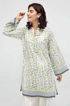 Green Kurta SCN-125 - Gul Ahmed Bagh-e-Gul Collection