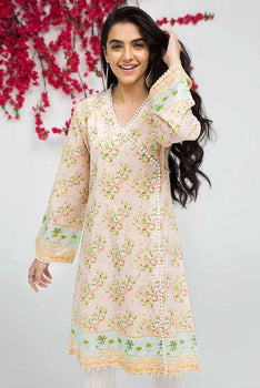 Pink Kurta SCN-88 - Gul Ahmed Bagh-e-Gul Collection