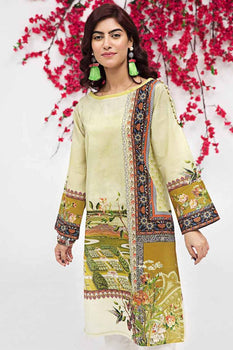 Green Kurta SCN-91 - Gul Ahmed Bagh-e-Gul Collection