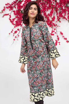 Black Kurta SCN-93 - Gul Ahmed Bagh-e-Gul Collection
