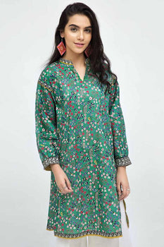 Green Kurta SCN-94 - Gul Ahmed Bagh-e-Gul Collection