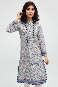 Grey Kurta SCN-95 - Gul Ahmed Bagh-e-Gul Collection