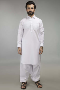 Off White Basic Shalwar Kameez - Ideas by Gul Ahmed