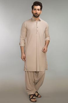 Beige Shalwar Kameez - Ideas by Gul Ahmed