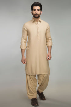 Peach Basic Shalwar Kameez - Ideas By Gul Ahmed