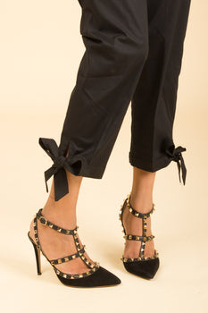 Black Bow Trousers - Stonez