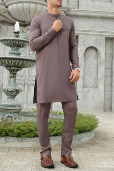 Light Purple Kameez Shalwar - Almirah