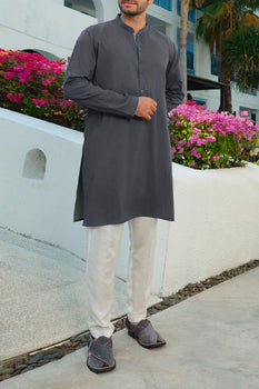 Dark Green Kurta - Almirah