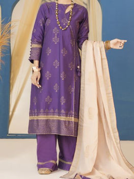 Purple 3 Piece Pret Suit - Almirah