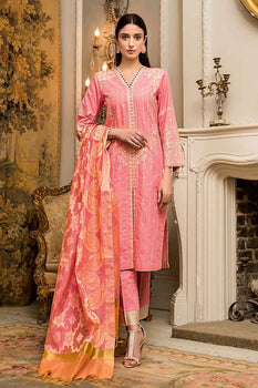 3 PC Unstitched Lawn Suit FE-221 - Gul Ahmed